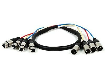 3ft 4-Channel XLR Male to XLR Female Snake Cable
