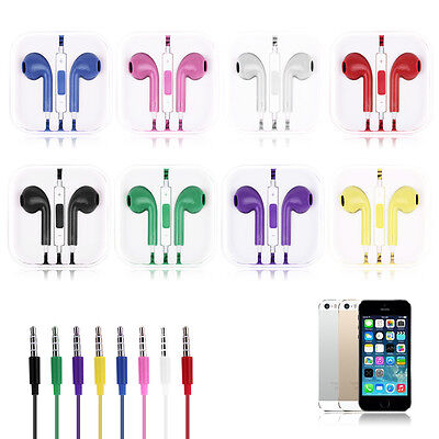 Cool 3.5mm In Ear Microphone Volume Control Headphone for iPhone 5/5S/6/Samsung