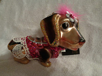 ADORABLE LADY DACHSHUND  CHRISTMAS ORNAMENT by ROBERT STANLEY - CUTE!
