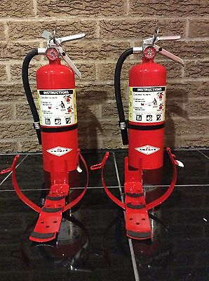 Set of 2 FIRE EXTINGUISHER (NEW IN BOX) AMEREX 5lb 5# ABC NEW CERT TAG 402t