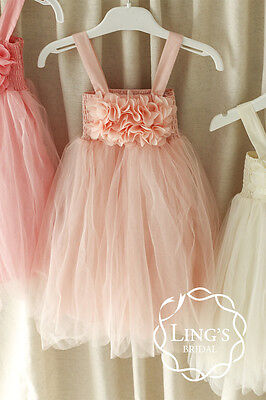 Tutu Flower Girl Dress Wedding Bridesmaid Birthday Pageant Graduation Party