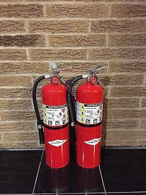 Set of 2 FIRE EXTINGUISHER 10lb 10# ABC AMEREX NEW CERT TAG  (NEW in box)