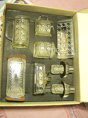 Federal Glass Windsor Top of the Table 9 piece set - 1950-1974