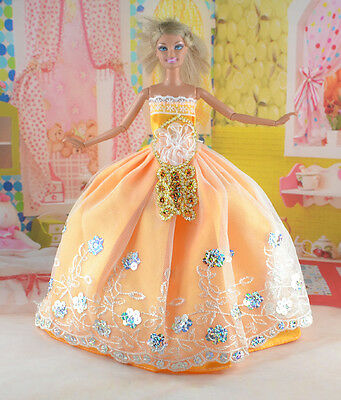 hot New Handmade Party Clothes Fashion Dress for Noble Doll *y69