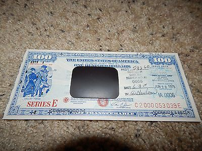 US Savings Bond Series E Bicentennial 1975 $100 Valley Forge with logo