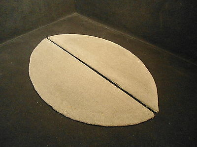 """GREY CARPETED WELL COVER SET TRAILER FENDER PLYWOOD 30"""" X 13.5"""" # 6"""