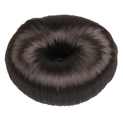 Brown Hairdressing Hair Donut Ring Bun Shaper Styler ED