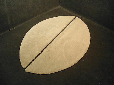 """GREY CARPETED 30"""" X 13.5""""  PLYWOOD TRAILER FENDER WELL COVER SET # 2"""
