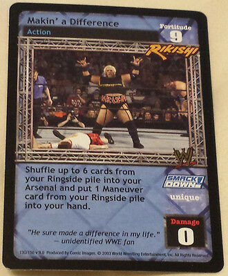 WWE Raw Deal MAKIN' A DIFFERENCE Rikishi premium rare