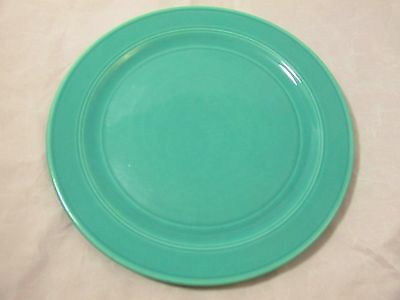 "MODERN CALIFORNIA AUTHENTIC VERNONWARE 9 1/2"" GREEN DINNER PLATE VERNON KILNS"