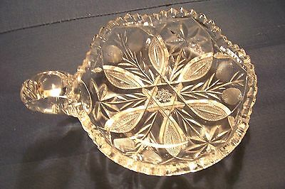 ABP CUT GLASS Candy dish UNKNOWN PATTERN crystal