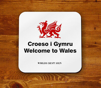 Croeso i Gymru Welcome to Wales Large Cleaning Cloth BR  WR 1960