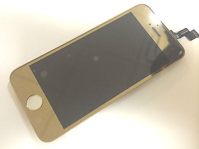 Mirror Gold LCD Lens Touch Screen Display Digitizer Replacement for iPhone 5S