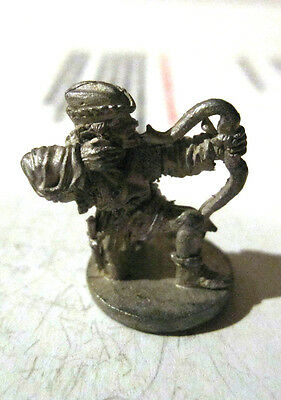 PEWTER ARCHER WITH SHORTBOW FIGURE VINTAGE 80'S 1 1/2 INCHES D & D