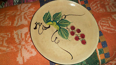 VINTAGE BY KANEDAI HAND PAINTED JAPAN BERRY GRAPE MOTIF SAUCER PLATE FOR CUP