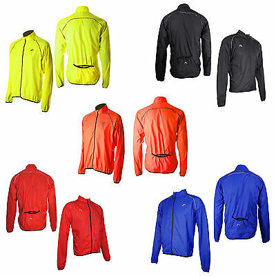 More Mile Mens Hi Viz Reflective Running Cycling Rain Wind Jacket Coat Top