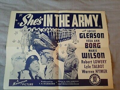 SHE'S IN THE ARMY (Original Movie Poster) with Lucile Gleason & Marie Wilson