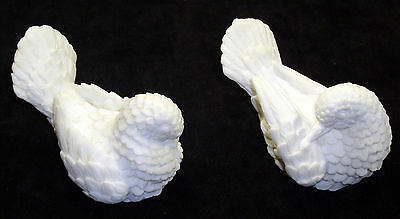 Excellent pair of pressed ground Italian Marble chips of doves in mint condition