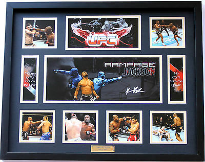 New Rampage Jackson Signed Limited Edition Memorabilia Framed