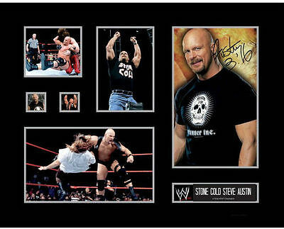 New Stone Cold Steve Austin Signed Limited Edition Memorabilia Framed