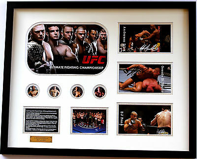 New UFC Penn Silva St Pierre Signed Limited Edition Memorabilia Framed