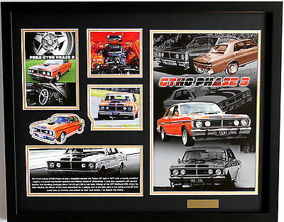 New Ford Falcon GT HO Phase 3 Limited Edition Memorabilia Framed
