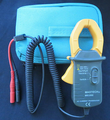 MASTECH MS3302 AC Current 0.1A - 400A Clamp Meter Transducer True RMS USA Seller