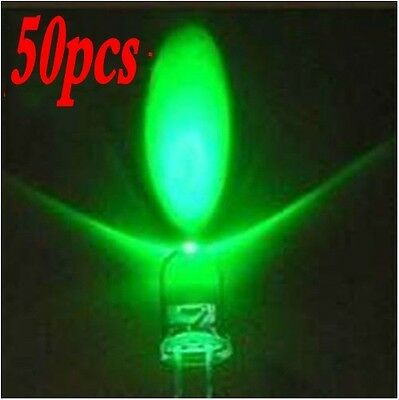 50 PCS/lot 5mm Ultra Bright Green LED Diode EXTRA BRIGHT Green Color