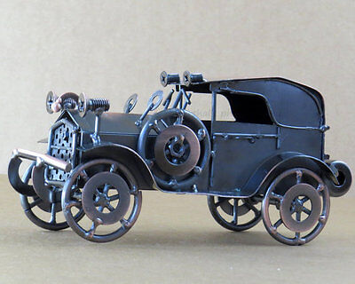 Metal Classic Ambassador Model Car with Copper Finish - Antique Car Collection