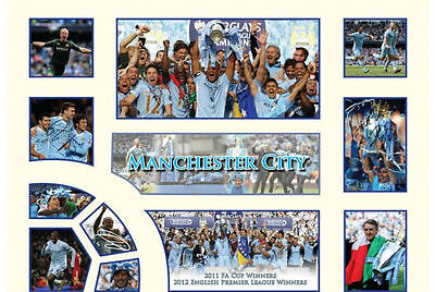 New Manchester City Limited Edition Memorabilia Framed