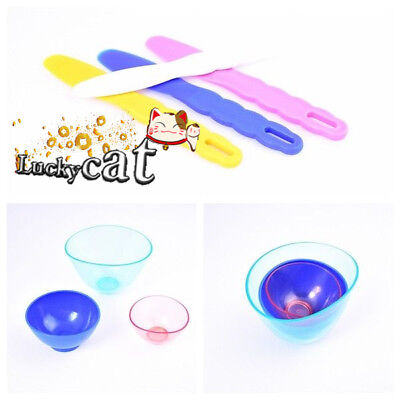 3pcs Dental Lab Rubber Mixing Bowls + 4pcs Spatulas Sale