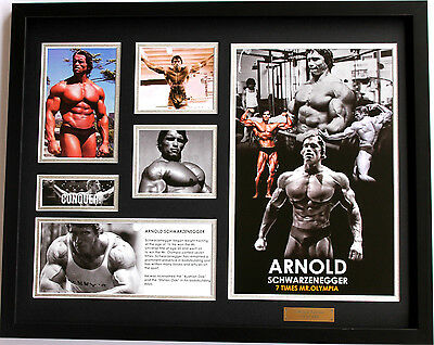 New Arnold Schwarzenegger Limited Edition Memorabilia Framed