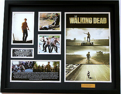 New The Walking Dead Limited Edition Memorabilia Framed