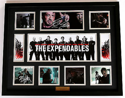 New Expendables Signed Limited Edition Memorabilia Framed