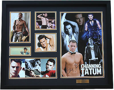 New Channing Tatum Signed Limited Edition Memorabilia Framed