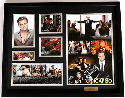 New Leonardo DiCaprio Signed Limited Edition Memorabilia Framed