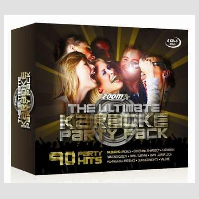 Zoom Ultimate Karaoke Party Pack, 90 Backing Tracks 6 CDG/CD+G Discs Box Set