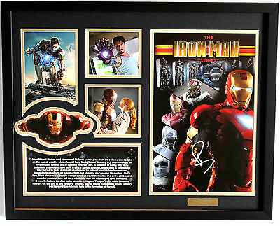 New Iron Man Signed Limited Edition Memorabilia Framed