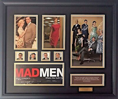 New Mad Men Signed Limited Edition Memorabilia Framed