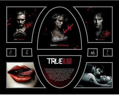 New True Blood Signed Limited Edition Memorabilia Framed