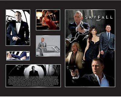 New James Bond Skyfall Daniel Craig Signed Limited Edition Memorabilia Framed