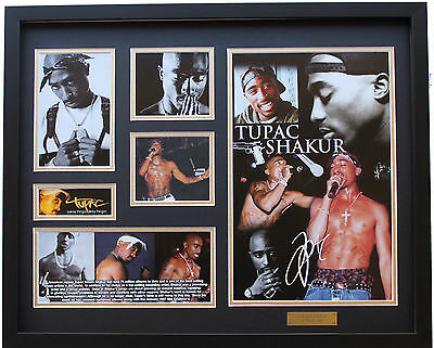 New Tupac Signed Limited Edition Memorabilia Framed