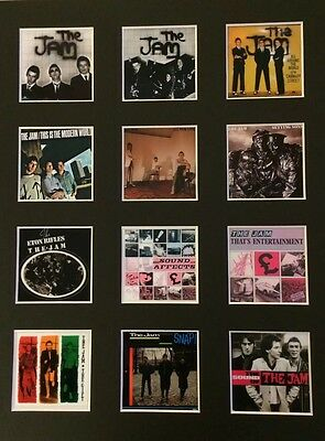 "THE JAM WELLER DISCOGRAPHY PICTURE MOUNTED 14"" By 11"" READY TO FRAME"
