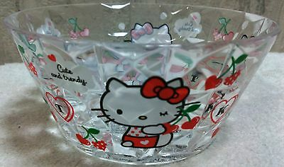 HTF Special Rare Sanrio Hello Kitty Cute Kitchen Clear Bowl Plate Japan Limited