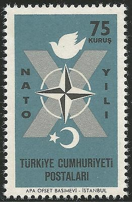 1962 Turkey, 10th Anniversary of NATO Admission. 75k., MNH