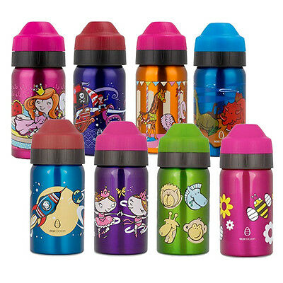 EcoCocoon Kids Drink Bottle 350ml-BPA free 18/8 Stainless steel- 8 Print Choices