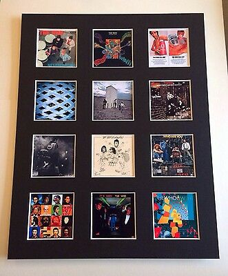 """THE WHO DISCOGRAPHY PICTURE MOUNTED 14"""" By 11"""" READY TO FRAME"""