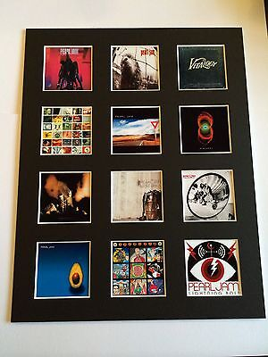 "PEARL JAM DISCOGRAPHY PICTURE MOUNTED 14"" By 11"" READY TO FRAME"
