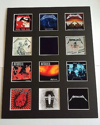 "METALLICA DISCOGRAPHY PICTURE MOUNTED 14"" By 11"" READY TO FRAME"