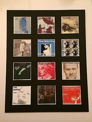 "THE SMITHS DISCOGRAPHY PICTURE MOUNTED 14"" By 11"" READY TO FRAME"
